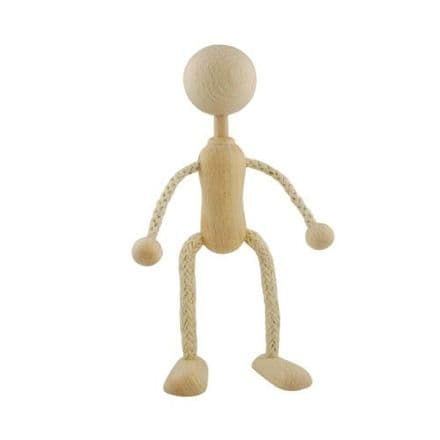Doll / Puppet - Wooden with Wire 15cm  (36093)