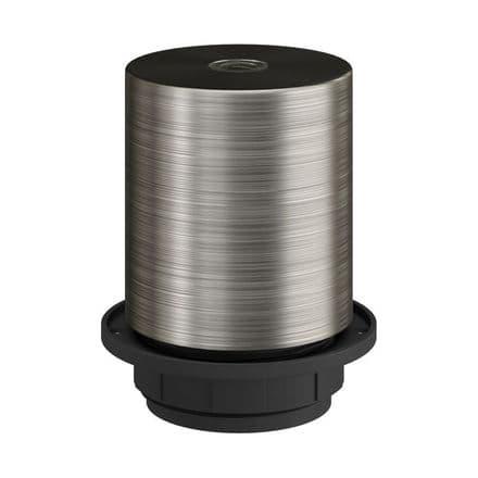 E27 Semi-flush Metal Lamp Holder Kit - Brushed Titanium