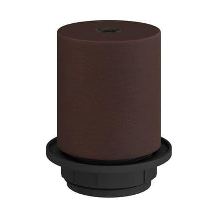 E27 Semi-flush Metal Lamp Holder Kit - Dark Rust