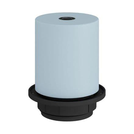 E27 Semi-flush Metal Lamp Holder Kit - Light Blue