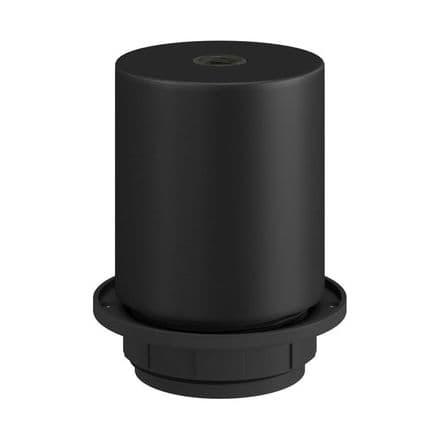 E27 Semi-flush Metal Lamp Holder Kit - Matt Black