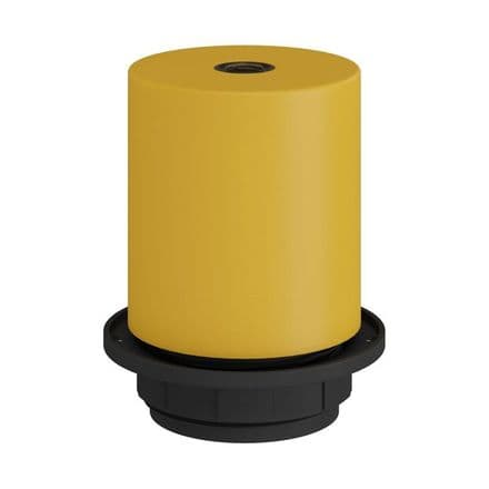 E27 Semi-flush Metal Lamp Holder Kit - Mustard