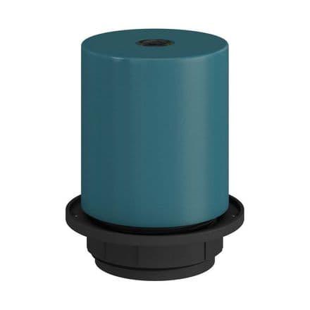 E27 Semi-flush Metal Lamp Holder Kit - Petrol