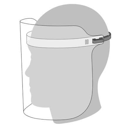 Face Visor   - Polyester (Pet) Transparent - Box of 100  (NO VAT)