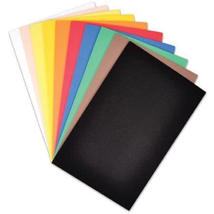 Foamrubber Cardstock-  10 Pack Assorted  - 20cm x 31cm   (Item 25230)