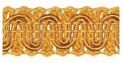 Gimp (Braided Trim) 13mm wide   - (per mtr) Dark Gold D05
