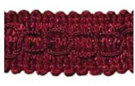 Gimp (Braided Trim) 22mm wide   - (per mtr) Wine J16