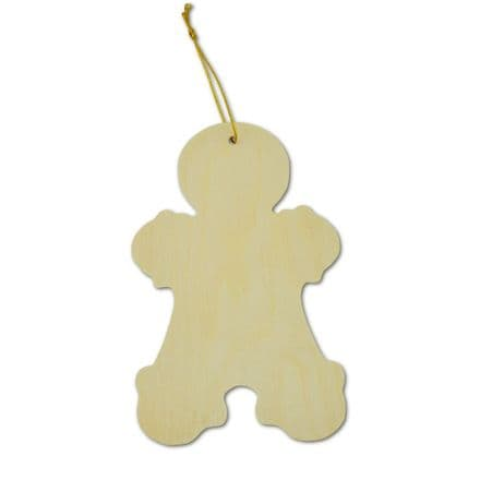 Gingerbread Man -Wooden Decoration  (35042)