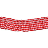 Gingham Trim- 25mm - Red -12.5mtrs
