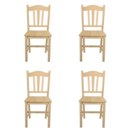 Italian Beechwood Quality Chair -  Set of 4