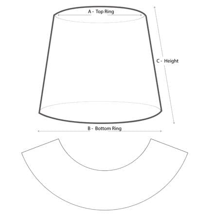 Lampshade Template Pattern 60cm or over