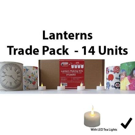 Lantern Making Kit  - 4 Pack  With Battery LED Tea Lights   x 14 units