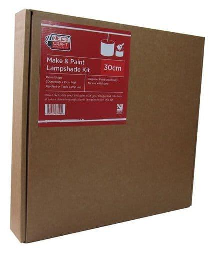 Make & Paint - 30cm Drum Lampshade Making Kit