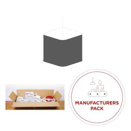 Manufacturing Pack - 30  x  30cm Rounded Square Lampshades