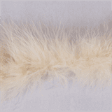 Marabou (Fur) Luxury Trim - 4mm - Light Beige  x 10mtrs