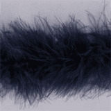 Marabou (Fur) Luxury Trim - 4mm - Navy  x 10mtrs