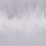 Marabou (Fur) Luxury Trim - 4mm - White  x 10mtrs