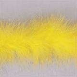 Marabou (Fur) Luxury Trim - 4mm - Yellow  x 10mtrs