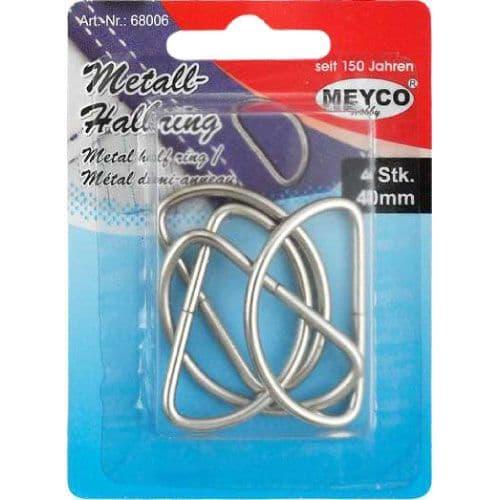 Metal Half Ring  semi-round links   (Item 68006)
