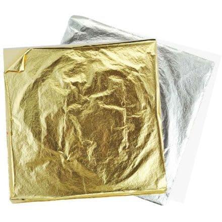 Metallic Metal Foil Sheets - Gold - 14cm x 14cm  - Pack 10    (15310)
