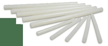 Mini Glue Sticks - 7mm x 10cm long -  12 per pack - Hot melt  (Item No: 65709)