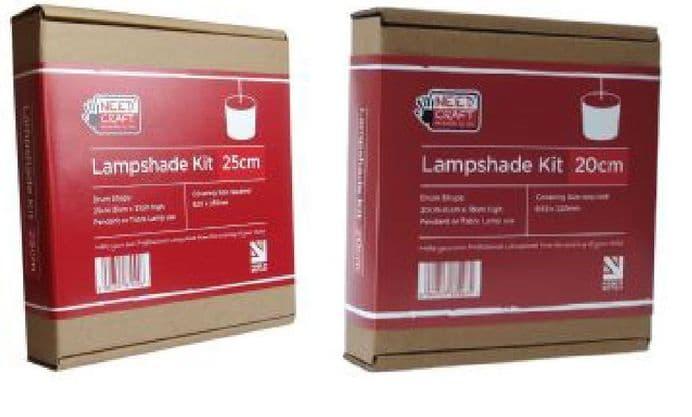Mixed Trade Kits  -  12 x 20cm 12 x 25cm Drum Lampshade Kits