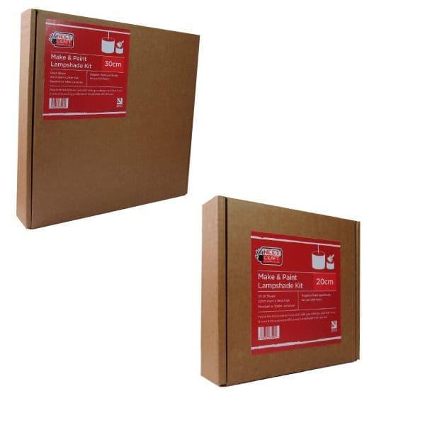 Mixed Trade Pack - Make & Paint Lampshade Kits   12 x 20cm   12  x 30cm