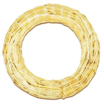 Natural Straw Wreath 160mm  (59001)