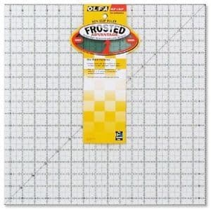Olfa Frosted Advantage Non Slip Ruler 16.5x16.5in   QR16S