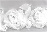 Rose Trim -White 45mm x  13.7MTRS (15 YARDS)