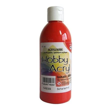 Scarlet Acrylic Paint - 100ml (Item No: 14909)
