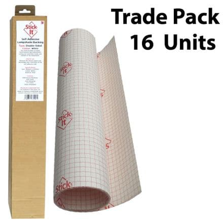Self-Adhesive Lampshade Vinyl  DOUBLE-SIDED - White  -1460mm x 500mm - Trade Pack 16 Units