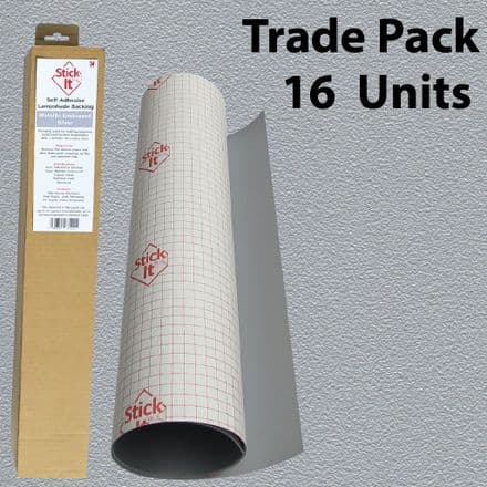 Self-Adhesive Lampshade Vinyl Metallic Embossed  -Silver-1460mm x 500mm  - Trade Pack  16 Units