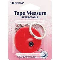 Tape Measure Retractable with Key Ring - 140cm