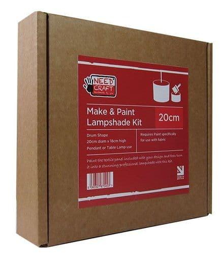 Trade Pack 24 x Make & Paint - 20cm Drum Lampshade Making Kit
