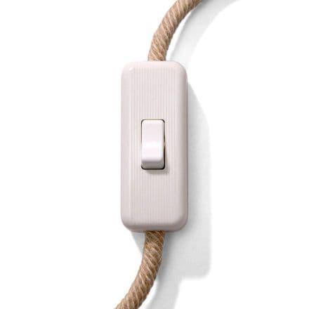 Unipolar Wire Breaker Push Rocker Switch - White