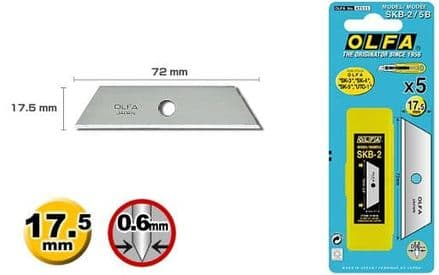 Utility & Safety Cutter Blade - SKB25B POINTED TIP  Pack of 5        OLF/SKB25B