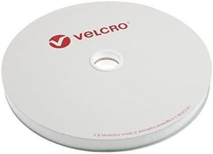 Velcro HOOK ONLY Tape: Sew-In: 25m x 20mm: White -  2V10H20\WHT