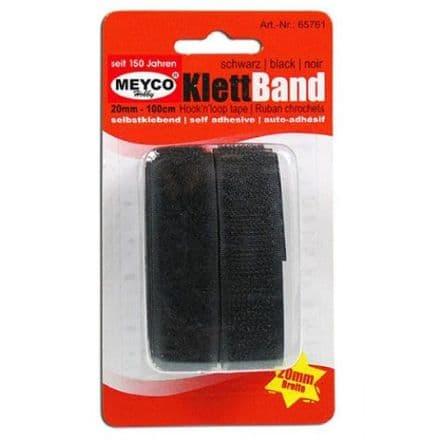 Velcro Self-Adhesive Tape- Black   1mtr x 20mm (65761)
