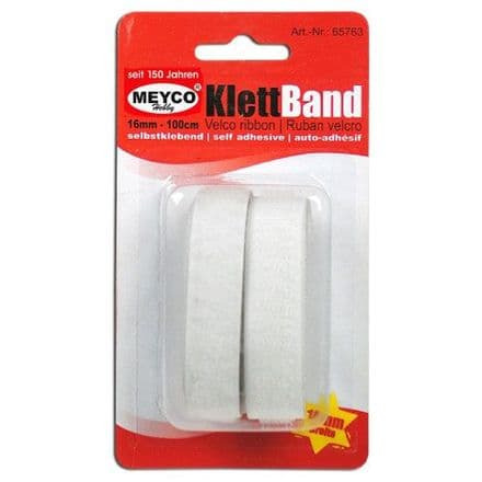 Velcro Self-Adhesive Tape- White   1mtr x 16mm (65763)
