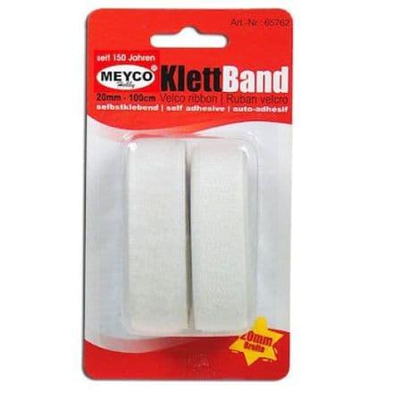 Velcro Self-Adhesive Tape- White   1mtr x 20mm (65762)