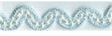 Wavy Beaded Trim Aqua 12mm x 10mtrs