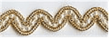 Wavy Beaded Trim Gold 12mm x 10mtrs