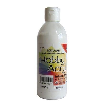 White Acrylic Paint - 250ml   (14931)