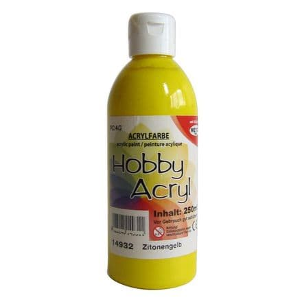 Yellow Acrylic Paint - 250ml (Item No: 14932)