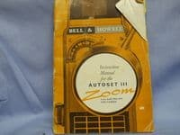 Bell + Howell Cine -ACTUAL MAKERS- Instructions Manual £2.49